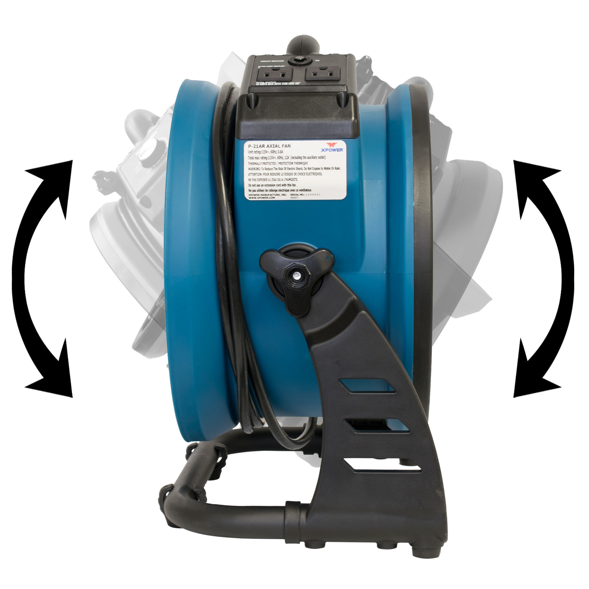 XPOWER P-21AR Industrial Axial Air Mover - XPOWER Manufacture
